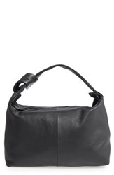 Topshop Premium Leather Jasmine Hobo Bag Black