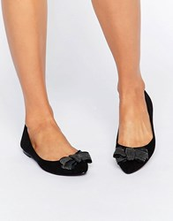 Oasis Studded Bow Ballet Pump Black