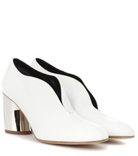 6894a8f0713 Proenza Schouler Leather Curved Heel Pumps White