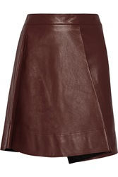 3.1 Phillip Lim Leather Mini Skirt Red