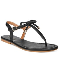 Nautica Women's Bahia T Strap Bow Sandals Women's Shoes