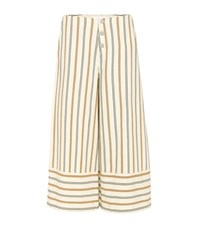 See By Chloe Cotton Trousers Neutrals