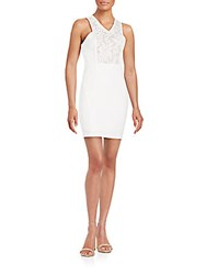 Romeo And Juliet Couture Lace Inset Sleeveless Dress White