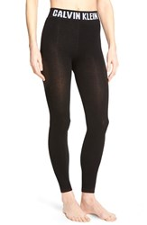 Women's Calvin Klein 'Retro' Logo Leggings Black