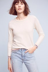 Anthropologie Trina Jersey Sweatshirt Cream
