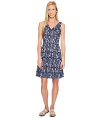 Woolrich On The Way Printed Dress Navy Women's Dress