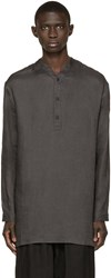 Isabel Benenato Grey Tunic Shirt