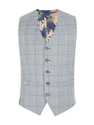Gibson Men's Grey With Purple Overcheck Vest Grey