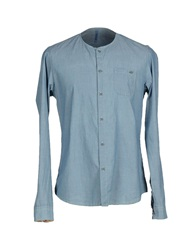 Officina 36 Denim Shirts Blue