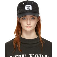 Alexander Wang Black Nylon Baseball Cap
