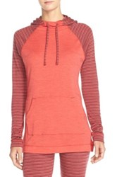 Smartwool 'Nts Mid 250' Hooded Pullover Top Orange