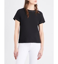 French Connection Polly Plains Stitch Detail T Shirt