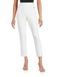 Calvin Klein Stretch Straight Leg Dress Pants White