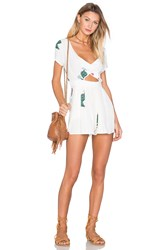 Wildfox Couture Cactus Flower Romper White