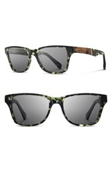 Shwood Women's Polarized Wood Inlay Sunglasses