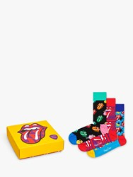 Happy Socks Rolling Stones Gift Box One Size Pack Of 3 Multi