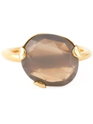 Wouters And Hendrix Grey Agate Ring Metallic