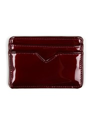 Topman Red Burgundy Patent Faux Leather Cardholder