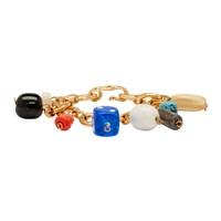 Marni Gold And Multicolor Charm Bracelet