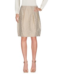 Aspesi Knee Length Skirts Beige