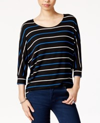 Maison Jules Striped Dolman Sleeve Top Only At Macy's Egret Combo