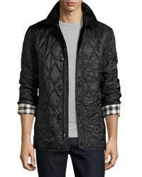 Burberry Corduroy Collar Quilted Jacket Black