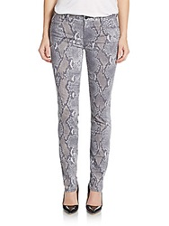 Genetic Los Angeles Stem Snake Print Mid Rise Skinny Jeans Nemesis