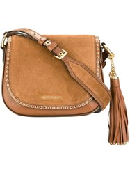 Michael Michael Kors Tassel Detailing Crossbody Bag Nude And Neutrals