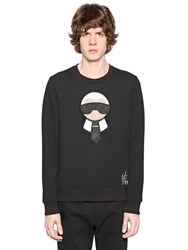 Fendi Karl Patches Wool Sweatshirt