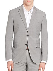 Jack Victor Wool Check Blazer Black White