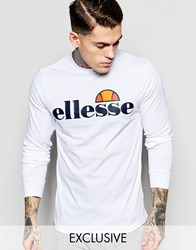 Ellesse Long Sleeve T Shirt White