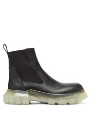 Rick Owens Bozo Tractor Beetle Leather Chelsea Boots Black