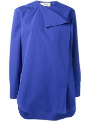 Ports 1961 Folded Front Shirt Blue