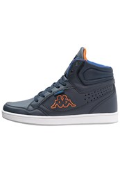 Kappa Forward Hightop Trainers Navy Orange Blue