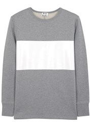 Acne Studios Grey Striped Cotton Sweatshirt