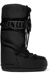 Moon Boot Shell And Rubber Snow Boots Black