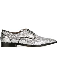 Red Valentino Glitter Oxford Shoes Metallic
