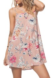 Rip Curl Women's Wildflower Floral Strappy Slipdress Dusty Rose