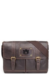 Men's Jack Mason Brand 'Gridiron Auburn Tigers' Leather Messenger Bag