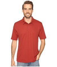 Quiksilver Waterman Collection Water Polo 2 Knit Polo Rosewood Men's Short Sleeve Pullover Red