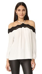 Ramy Brook Sandy Blouse Soft White Black