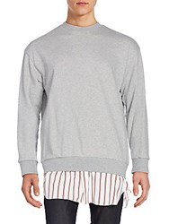 3.1 Phillip Lim Layer Hem Sweatshirt Grey