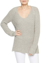 Sanctuary Women's Sequoia V Neck Sweater Marled Silver Winter White