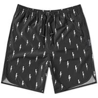 Neil Barrett Lightning Bolt Swim Short Black
