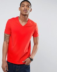 Asos T Shirt With V Neck Red