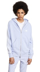 Baja East Be Stripe Zip Hoodie Lilac