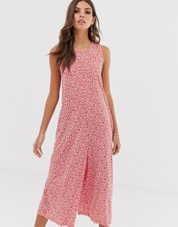 French Connection Floral Print Culotte Jumpsuit Red