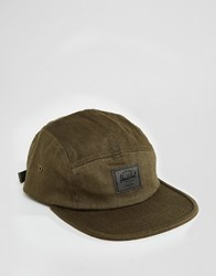 Herschel Supply Co Glendale Cap In Khaki Military Inspired Army Surplus Green