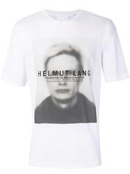 Helmut Lang T Shirt With Graphic Print Cotton Modal Xs White