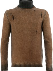 Avant Toi Roll Neck Sweater Brown